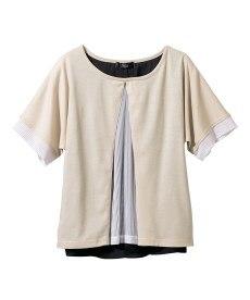 <ニッセン> レーヨン混プリントチュニックTシャツ (大きいサイズレディース)Tシャツ・カットソー 24
