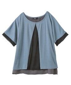 <ニッセン> レーヨン混プリントチュニックTシャツ (大きいサイズレディース)Tシャツ・カットソー 23