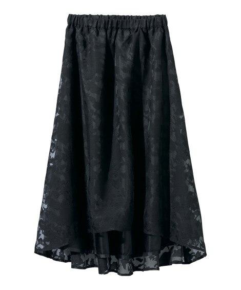 ジャカードイレギュラーヘムスカート (大きいサイズレディース...