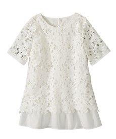 <ニッセン> レーヨン混プリントチュニックTシャツ (大きいサイズレディース)Tシャツ・カットソー 29