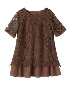<ニッセン> レーヨン混プリントチュニックTシャツ (大きいサイズレディース)Tシャツ・カットソー 30