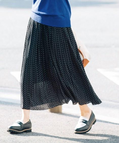 大きいサイズ ミディ丈プリーツスカート(Instagram LIVE着用商品) ,スマイルランド, スカート, plus size skirts