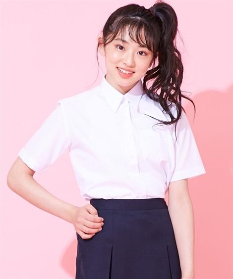 【女の子】半袖スクールシャツ(女の子 子供服 ジュニア服) ...