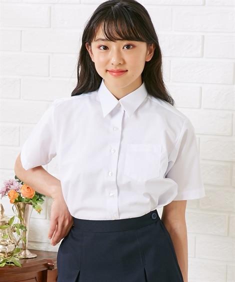 【ゆったりサイズ】【女の子】半袖スクールシャツ(女の子 子供...
