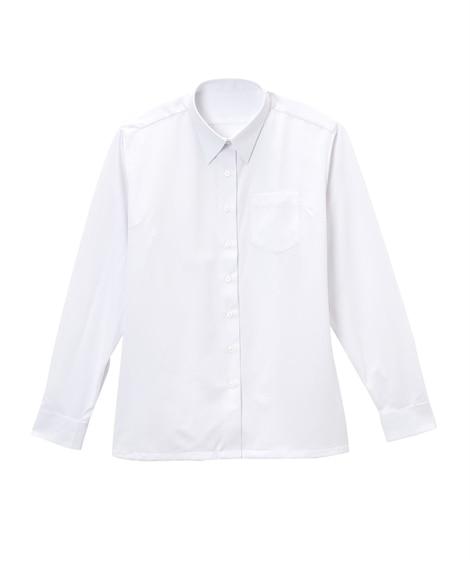 【ゆったりサイズ】【女の子】カットソー長袖スクールシャツ(女...