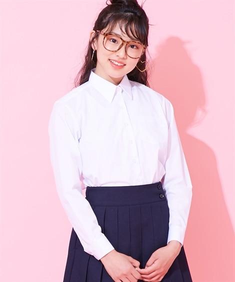 【女の子】長袖スクールシャツ(女の子 子供服 ジュニア服) ...