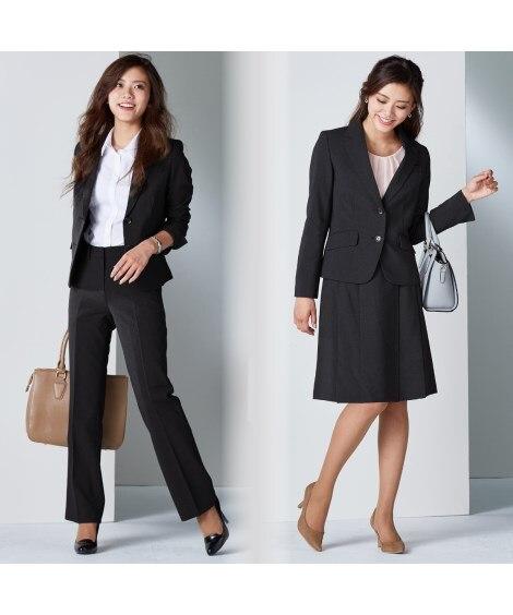 3点セットスーツ(ジャケット+パンツ+スカート)(股下72c...