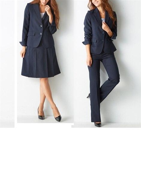 3点セットスーツ(ジャケット+パンツ+スカート)(股下77c...