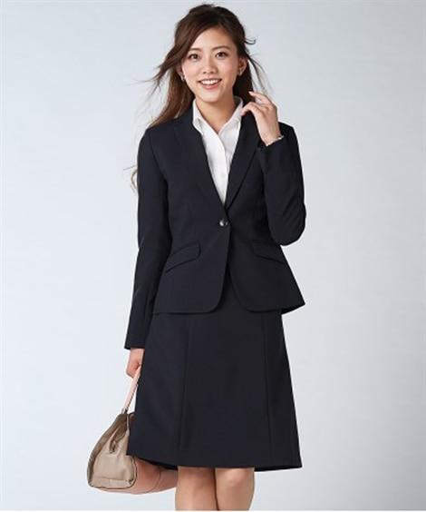 新改良◎洗える定番セミフレアスカートスーツ