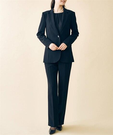 トールサイズ フォーマルパンツスーツ(ジャケット+ソフトブー...