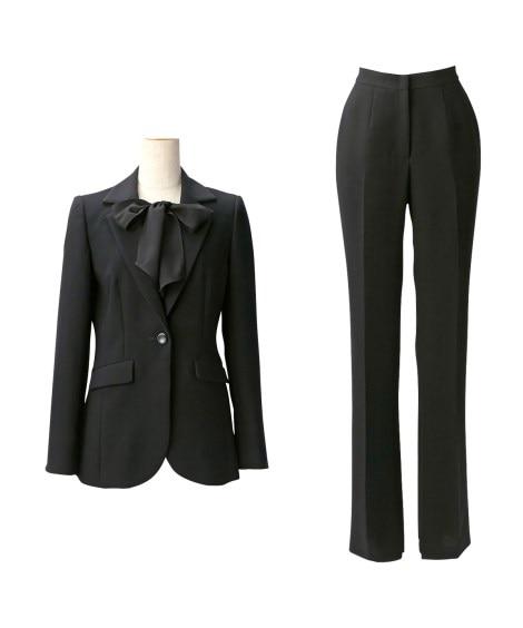 【喪服】 トールサイズ パンツスーツ(胸当て付ジャケット+ソ...