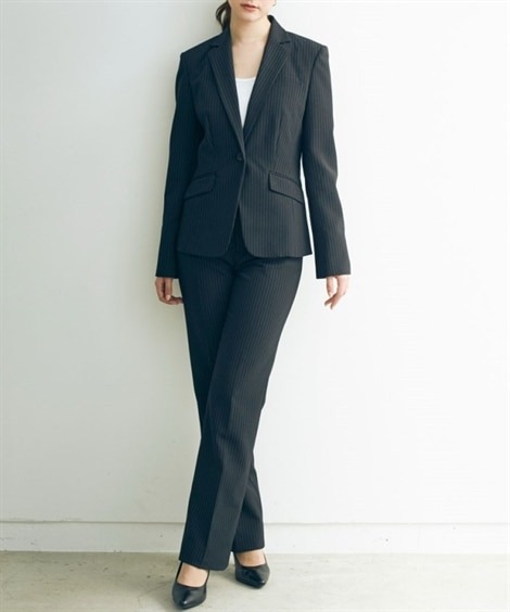 トールサイズ 洗える2パンツスーツ(股下82cm)...