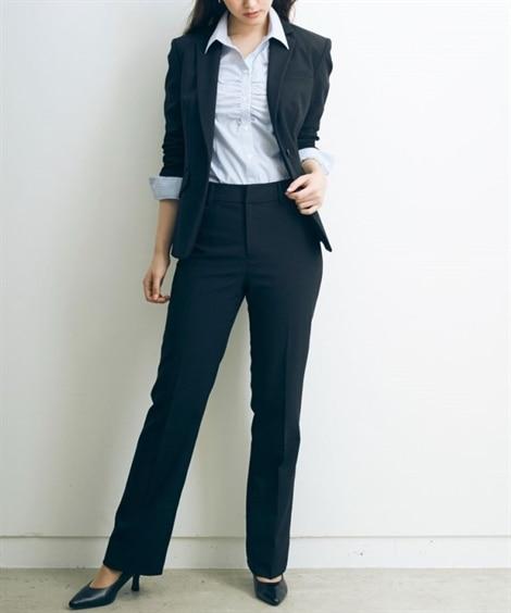 トールサイズ 洗える2パンツスーツ(股下86cm)...