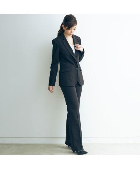 トールサイズ すごく伸びるロング丈ジャケットスーツ(股下82...