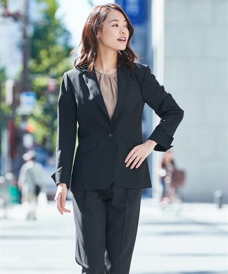 【レディーススーツ】パンツスーツ(テーラードジャケット+9分丈テーパードパンツ)(タテヨコストレッチリスピィシリーズ) レディーススーツ, women's suits,  plus size women's suits