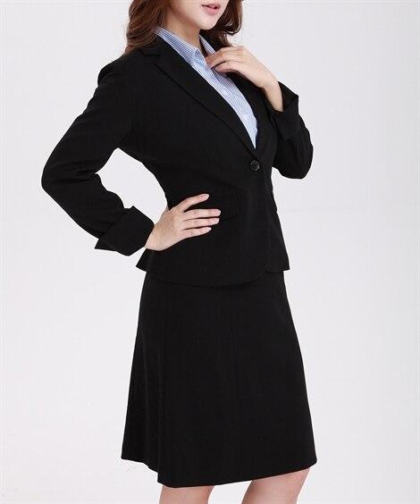 【大きい胸専用】洗えるすごく伸びるセミフレアスカートスーツ ...