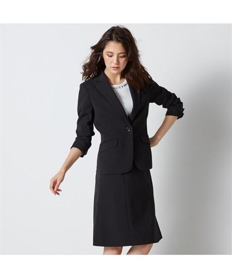 防汚加工◎すごく伸びる裏地無セミフレアスカートスーツ【レディーススーツ】 (レディース)スーツ, women's suits,  plus size women's suits