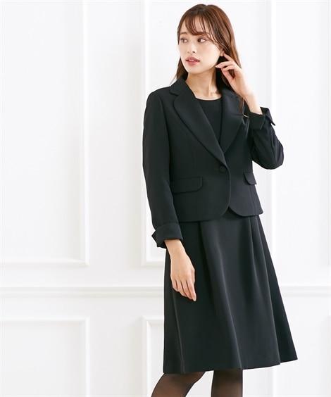 【喪服。礼服】テーラードアンサンブル(ジャケット+セミフレア...