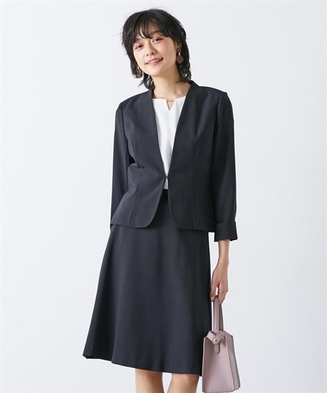 夏にぴったり♪タテヨコストレッチスカートスーツ(カラーレスジ...