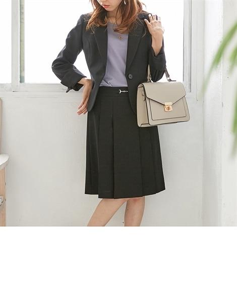 〈小さいサイズ〉大人気!美人度UP洗えるスカートスーツ 【小...