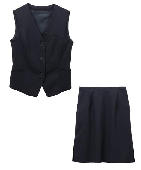 タイトスカートなのに足さばき◎理想のベストスーツ(丈52cm...