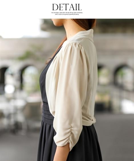 肩をかくして日焼け防止できるドレス