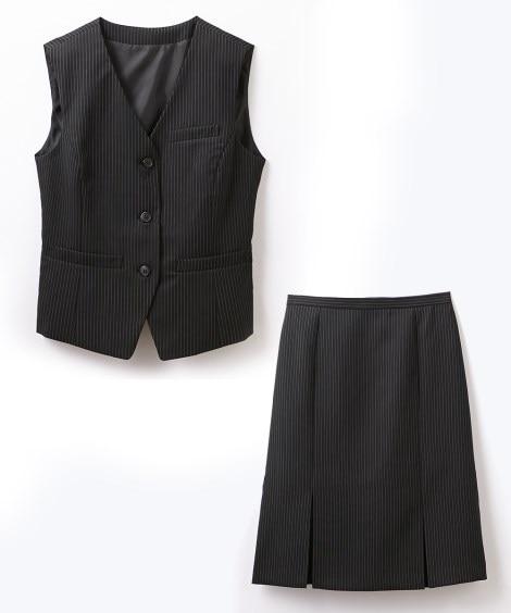 ベストスーツ(ベスト+ボックスプリーツスカート)(防汚加工。...