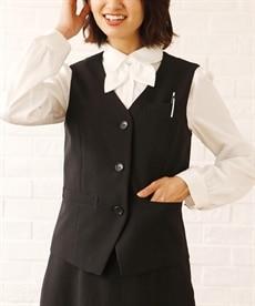 <ニッセン>2点セット(ベスト+ボックスプリーツスカート)(防汚加工。抗菌消臭テープ付) women's suits 5