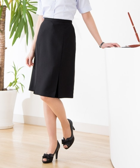 【事務服。ベストスーツ】洗える防汚加工タックプリーツスカート(消臭テープ付)(上下別売り) (大きいサイズレディース)事務服, women's suits,  plus size women's suits