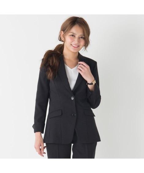 【事務服。ベストスーツ】洗える防汚加工ロング丈ジャケット(消臭テープ付)(上下別売り) (大きいサイズレディース)事務服, women's suits,  plus size women's suits