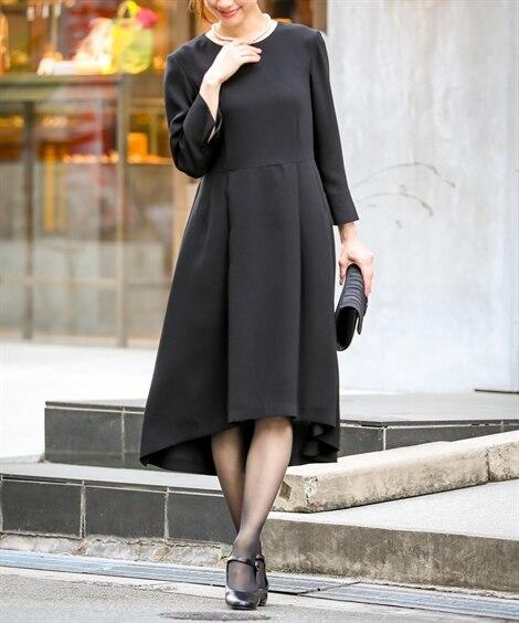【喪服。礼服】フィッシュテールデザインワンピース(オールシー...