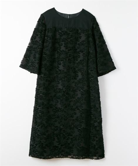 カットジャガードワンピースドレス【セミフォーマル。結婚式。二...