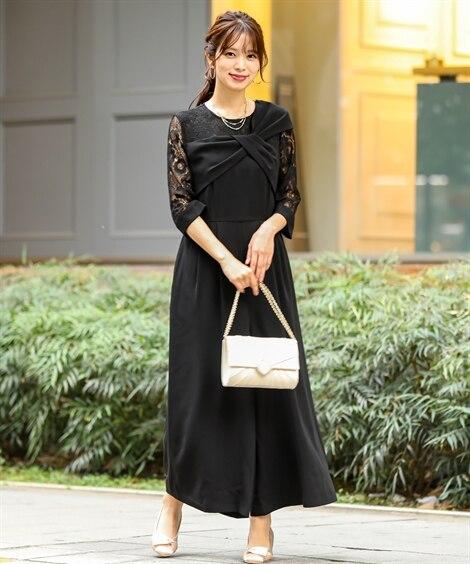 ショルダーデザインオールインワンパンツドレス【結婚式。二次会...