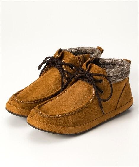 カジュアルショートブーツ(低反発中敷)(ワイズ4E) ブーツ...