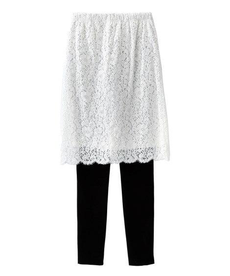 レギンス付デザインスカート (大きいサイズレディース)