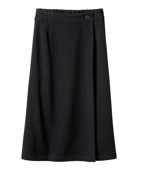 股ずれしにくい裏地付2WAYストレッチ巻スカート(ゆったりヒ...