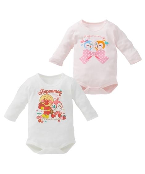 アンパンマン コットンフライス長袖ボディスーツ2枚組(男の子。女の子 子供服。ベビー服) 【ベビー服】Babywear