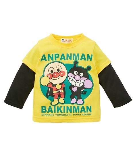 【アンパンマン】重ね着風長袖Tシャツ(男の子 女の子 ベビー...