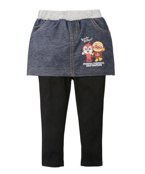 【アンパンマン】ニットデニムスカッツ(女の子 ベビー服 子供服) (スカート付パンツ) Girls Skirts