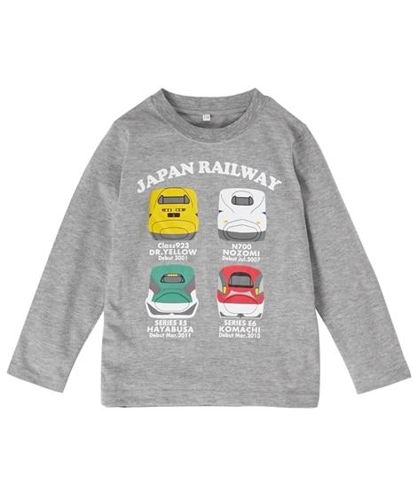【新幹線】長袖Tシャツ(男の子 子供服) (Tシャツ・カット...