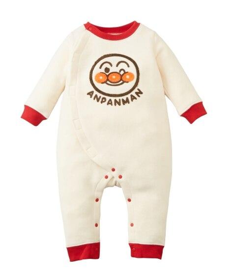 アンパンマン あったか裏起毛 サガラ刺しゅうカバーオール(男の子。女の子 子供服。ベビー服) 【ベビー服】Babywear