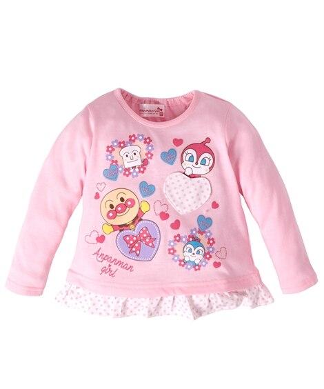 【アンパンマン】裾フリル長袖Tシャツ(女の子 ベビー服 子供服) (Tシャツ・カットソー)Kids' T-shirts, T恤