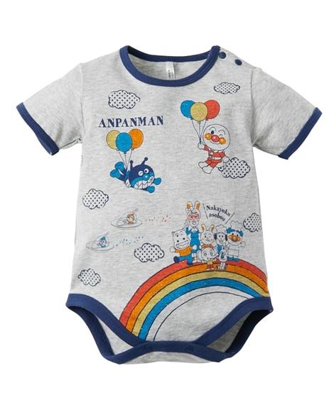 【アンパンマン】プリント半袖ロンパース(男の子。女の子 子供服。ベビー服) 【ベビー服】Babywear