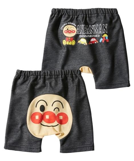 【アンパンマン】おしりがかわいい。3分丈モンキーパンツ(男の子。女の子 子供服。ベビー服) 【ベビー服】Babywear