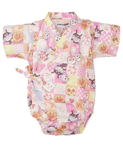 【アンパンマン】甚平ロンパース(男の子。女の子 子供服。ベビー服) 【ベビー服】Babywear
