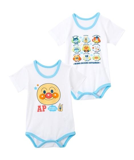 アンパンマン コットンフライス半袖ボディスーツ2枚組(男の子。女の子 子供服。ベビー服) 【ベビー服】Babywear