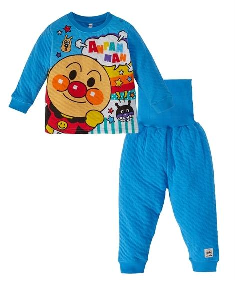 【アンパンマン】腹巻付接結ニットパジャマ(男の子 女の子 ベビー服 子供服) キッズパジャマ, Kids' Pajamas