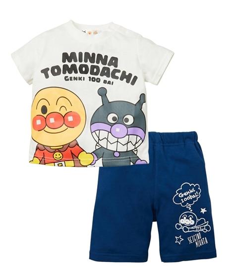 【アンパンマン】Tスーツ(Tシャツ+パンツ)(男の子 女の子 ベビー服 子供服) (Tシャツ・カットソー)Kids' T-shirts