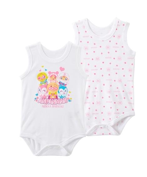 【アンパンマン】コットンフライス ノースリーブボディスーツ2枚組(男の子・女の子 ) 【ベビー服】Babywear