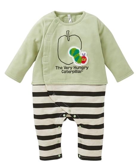 【はらぺこあおむし】スウェットりんご柄カバーオール(ベビー服・子供服 男の子・女の子) 【ベビー服】Babywear